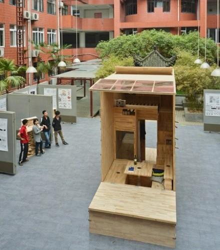 Căn nhà gỗ 7m2 siêu tiện nghi có thể mang đi bất cứ đâu - Ảnh 1.