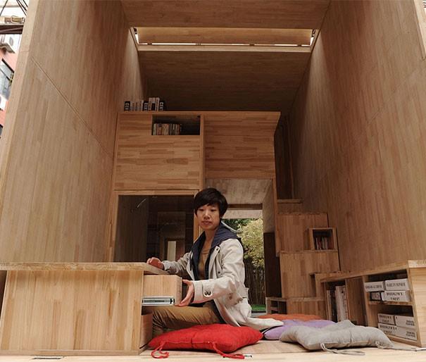 Căn nhà gỗ 7m2 siêu tiện nghi có thể mang đi bất cứ đâu - Ảnh 5.