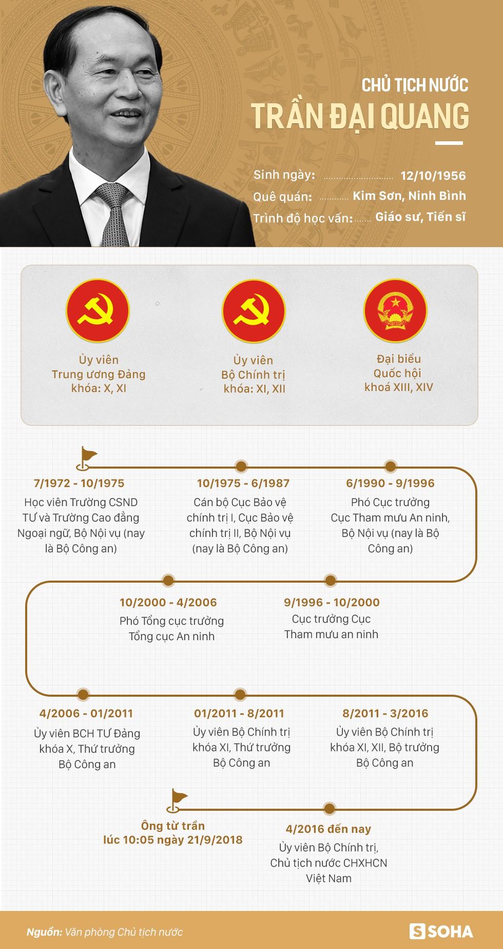 Tiểu sử cố Chủ tịch nước Trần Đại Quang - Ảnh 1.
