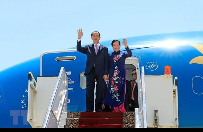 Chuyến thăm nước ngoài cuối cùng của Chủ tịch nước Trần Đại Quang - Ảnh 1.