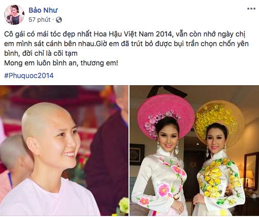 Hình ảnh thí sinh có mái tóc đẹp nhất Hoa hậu Việt Nam 2014 cạo trọc đầu gây xôn xao - Ảnh 1.