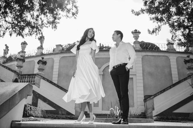 Hé lộ ảnh cưới ngọt ngào, giản dị chụp ở Paris của Lan Khuê và ông xã đại gia trước ngày trọng đại - Ảnh 3.