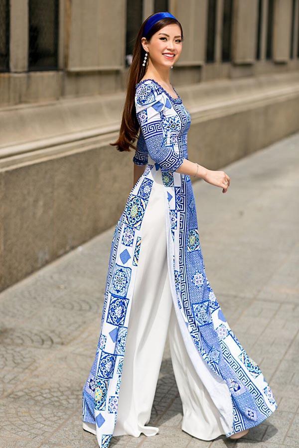 Á hậu Diễm Trang, Thanh Tú khoe sắc với áo dài cách tân - Ảnh 4.