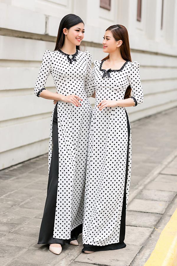 Á hậu Diễm Trang, Thanh Tú khoe sắc với áo dài cách tân - Ảnh 1.