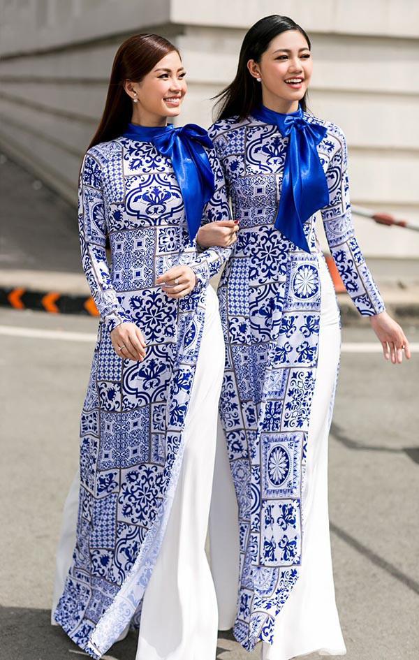 Á hậu Diễm Trang, Thanh Tú khoe sắc với áo dài cách tân - Ảnh 2.