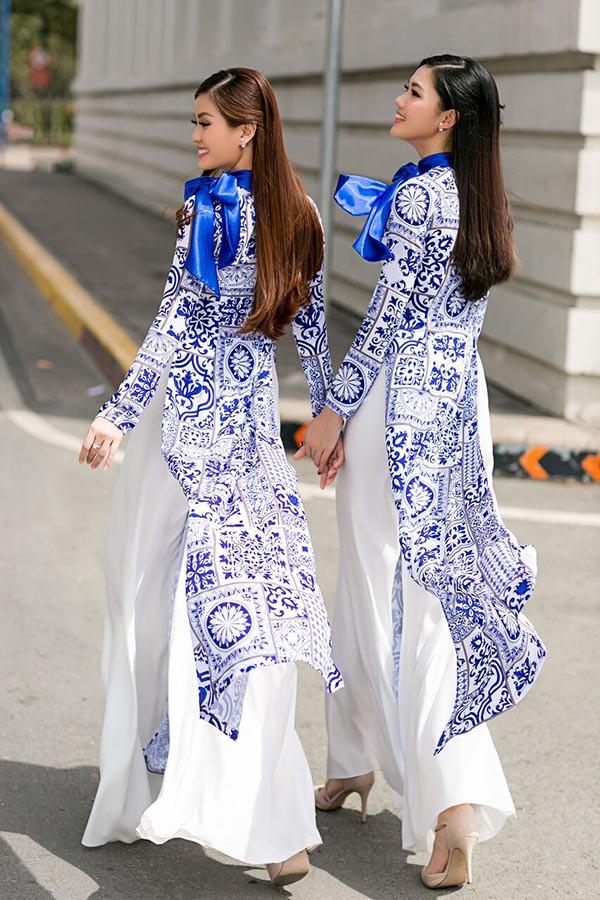 Á hậu Diễm Trang, Thanh Tú khoe sắc với áo dài cách tân - Ảnh 3.