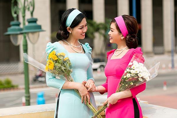 Á hậu Diễm Trang, Thanh Tú khoe sắc với áo dài cách tân - Ảnh 10.