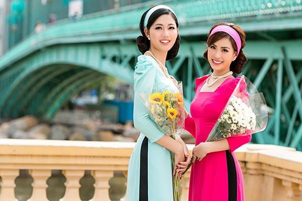 Á hậu Diễm Trang, Thanh Tú khoe sắc với áo dài cách tân - Ảnh 9.