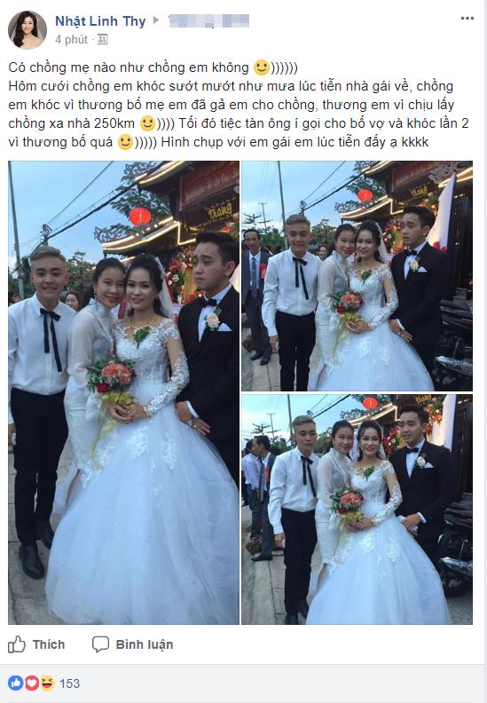 Hình ảnh chú rể khóc như mưa trong ngày cưới vì thương bố mẹ vợ đã gả con gái cho mình khiến cộng đồng mạng xôn xao - Ảnh 1.