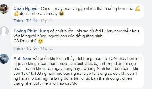 Người hâm mộ sốc khi Vũ Minh Tuấn chia tay Than Quảng Ninh - Ảnh 3.