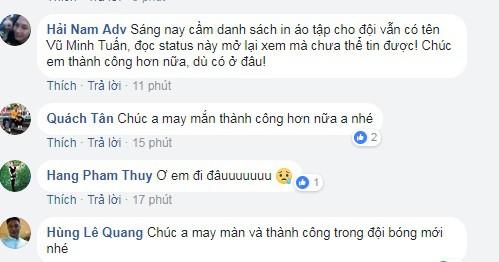 Người hâm mộ sốc khi Vũ Minh Tuấn chia tay Than Quảng Ninh - Ảnh 4.
