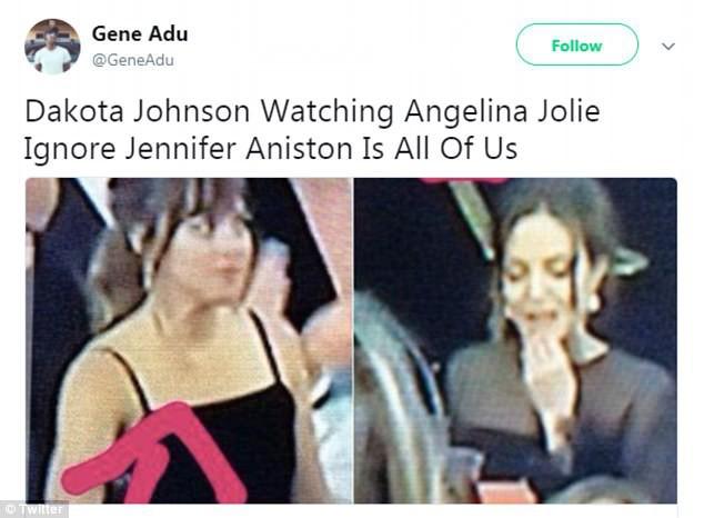Khoảnh khắc thú vị: Angelina phản ứng khi vợ cũ Brad Pitt xuất hiện, sao 50 Sắc Thái tò mò liếc sang theo dõi - Ảnh 5.