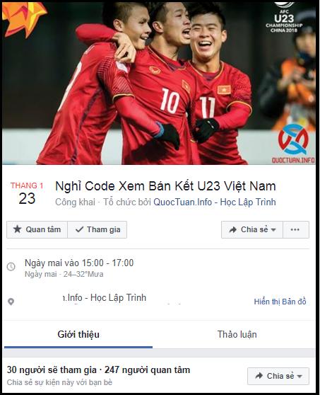 Lập sự kiện 'rủ rê xem U23 Việt Nam đá bán kết' đang là 'trend' của ngày hôm nay! - Ảnh 7.