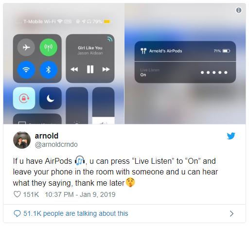 Cư dân mạng đang chia sẻ tính năng do thám của iPhone và AirPods, sự thực thế nào? - Ảnh 1.