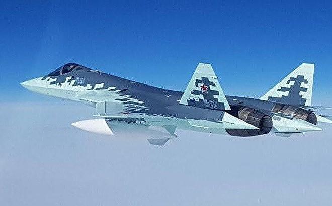 [ẢNH] Lớp sơn đặc biệt mới nhân đôi khả năng tàng hình của Su-57 - Ảnh 5.