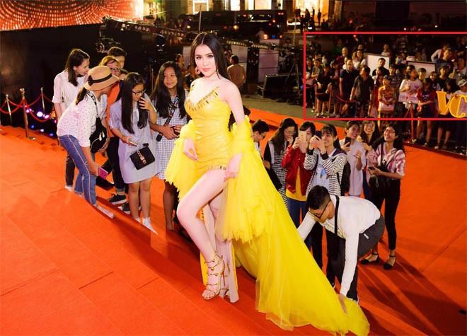 Clip Thư Dung và nhóm người làm màu phản cảm tại thảm đỏ Mai Vàng - Ảnh 2.