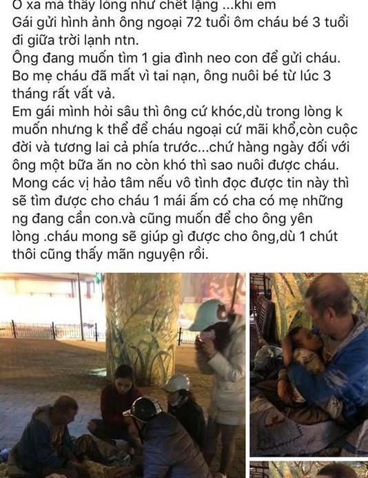 Thông tin bất ngờ về ông ngoại 72 tuổi ôm cháu bé 3 tuổi đi lang thang giữa trời lạnh ở Hà Nội - Ảnh 1.