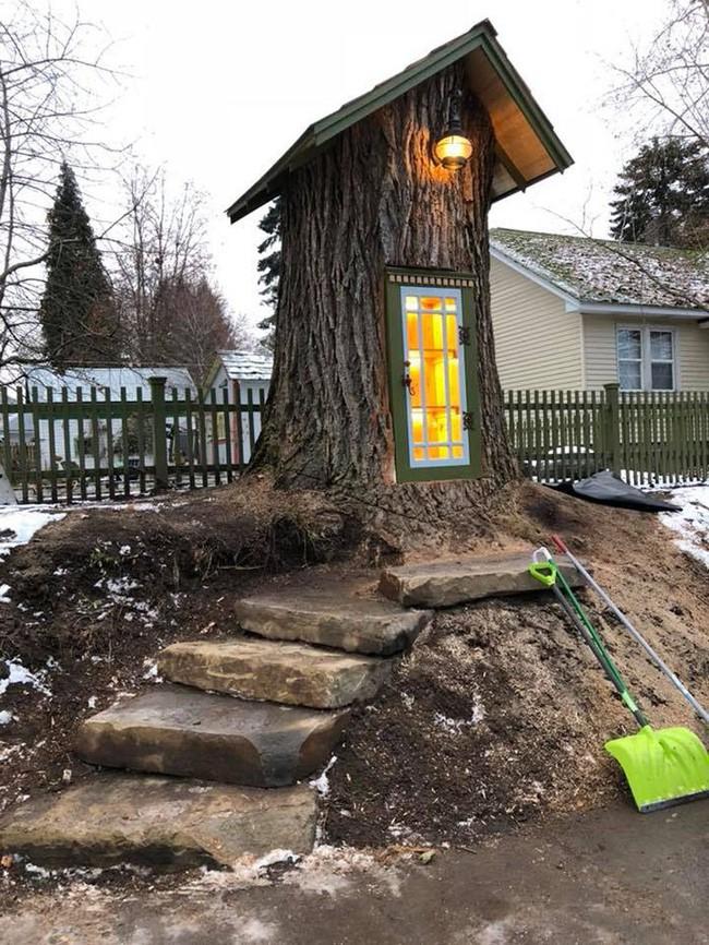 Hi sinh cây cổ thụ trăm tuổi cạnh nhà, người phụ nữ xây dựng thành một thư viện đầu tiên cho cả khu dân cư - Ảnh 4.
