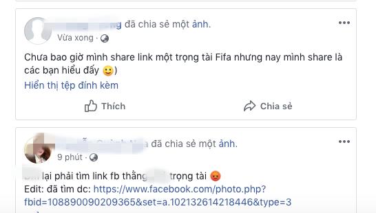 Nghĩ bị xử ép, CĐV Việt Nam tiếp tục dùng những từ ngữ thô tục với facebook trọng tài người Iran - Ảnh 2.