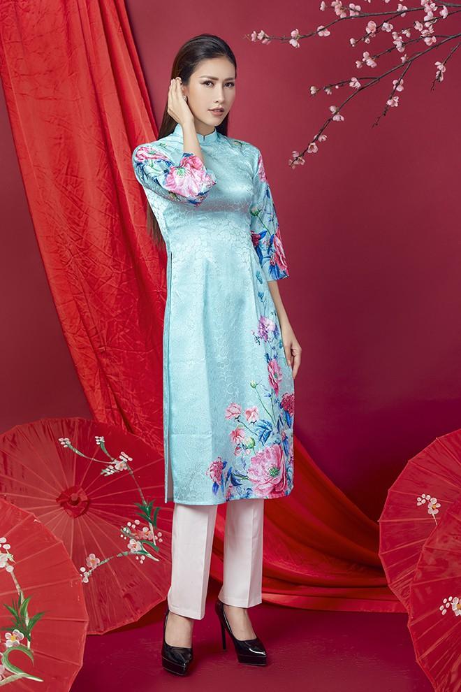 Hoa hậu Phan Thu Quyên khoe nhan sắc xinh đẹp khi diện áo dài  - Ảnh 13.