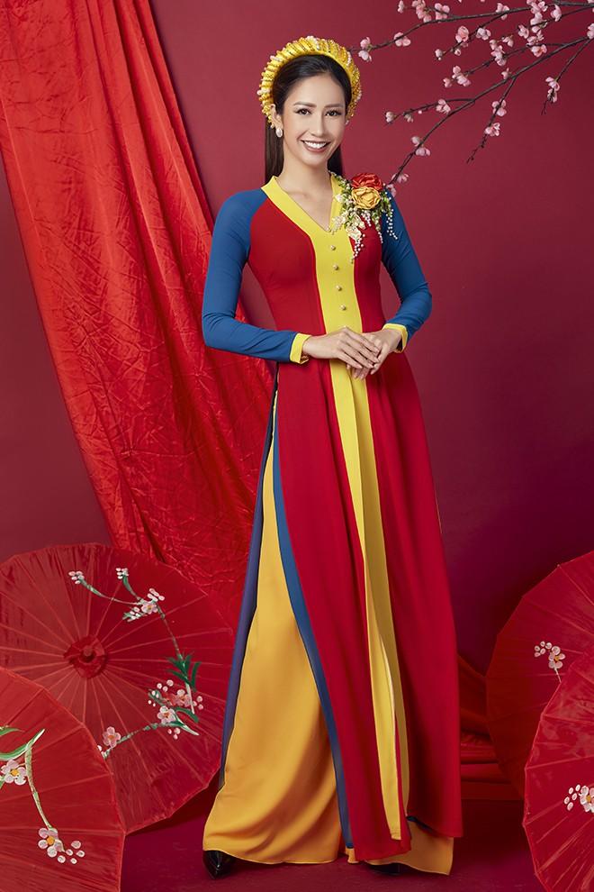 Hoa hậu Phan Thu Quyên khoe nhan sắc xinh đẹp khi diện áo dài  - Ảnh 5.