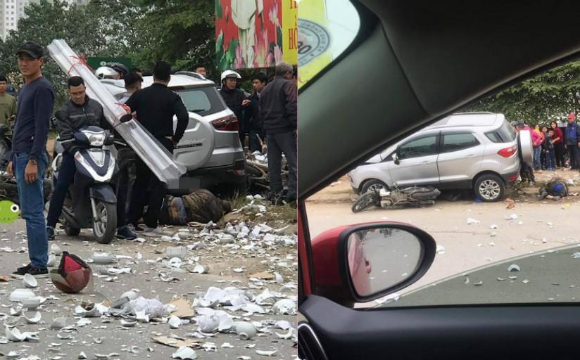 Bát đĩa vỡ tan tành, người nằm gầm xe trong vụ