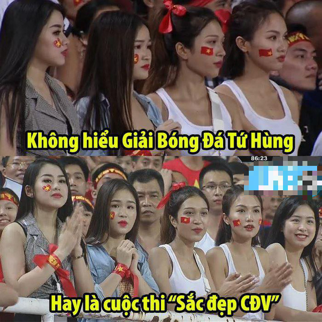Cô gái xuất hiện nổi bật trên khán đài Mỹ Đình, hóa ra lại là gương mặt quen của fan bóng đá - ảnh 5