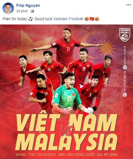 Filip Nguyễn gửi lời chúc ĐT Việt Nam, chờ ngày trở thành học trò thầy Park  - Ảnh 1.
