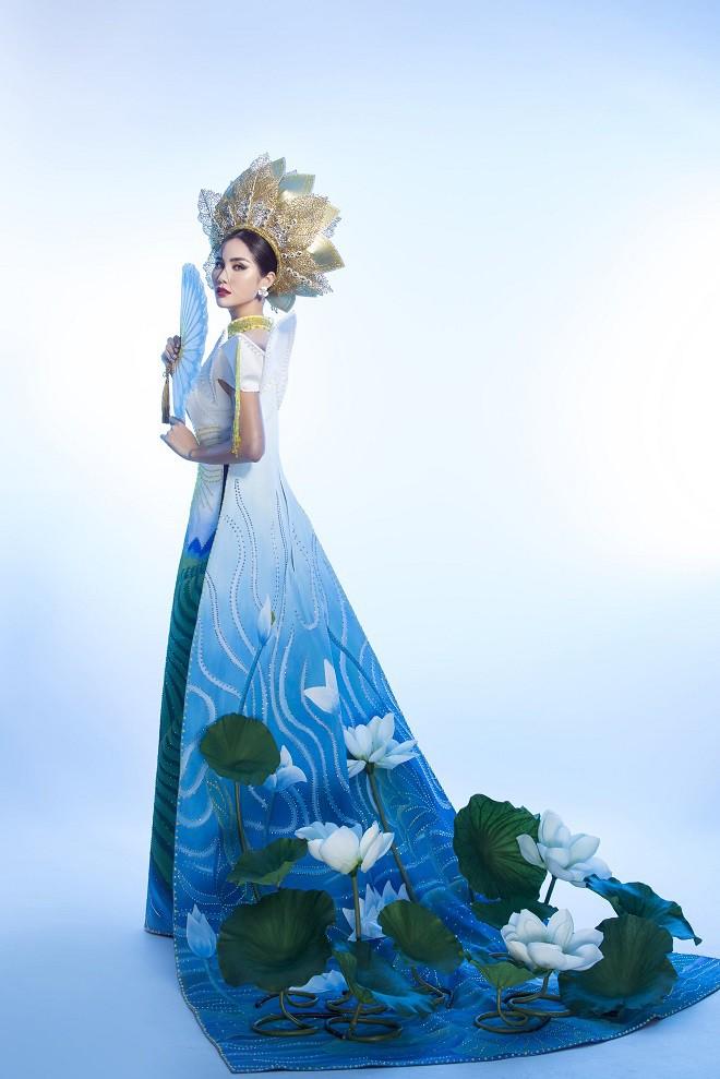 Hoàng Hạnh mặc quốc phục đính 5.000 viên pha lê tranh tài tại Miss Earth 2019 - Ảnh 6.