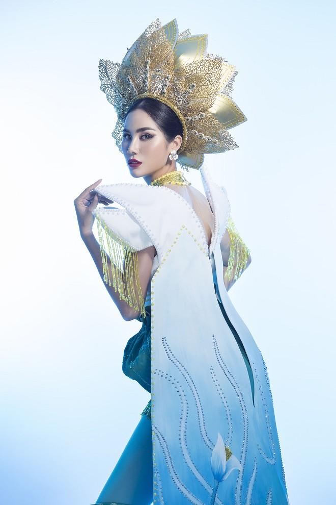 Hoàng Hạnh mặc quốc phục đính 5.000 viên pha lê tranh tài tại Miss Earth 2019 - Ảnh 8.