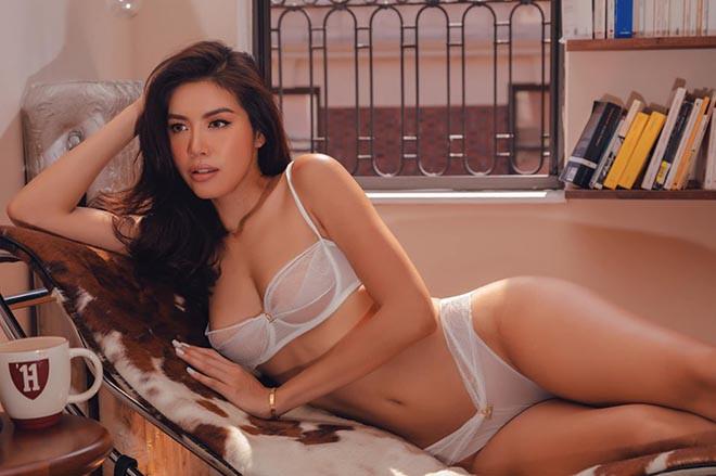 Ảnh nội y nóng bỏng của siêu mẫu Minh Tú - ảnh 5