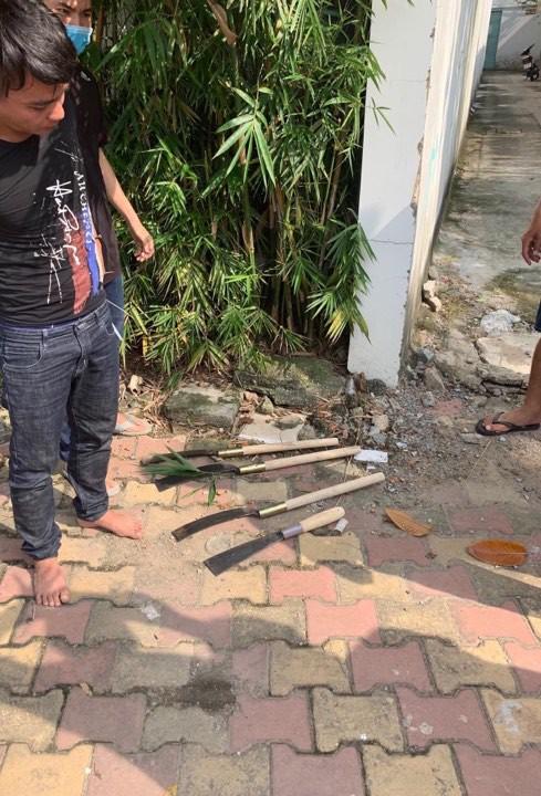 Cảnh sát nổ súng khống chế nhóm giang hồ đâm thuê chém mướn - Ảnh 2.