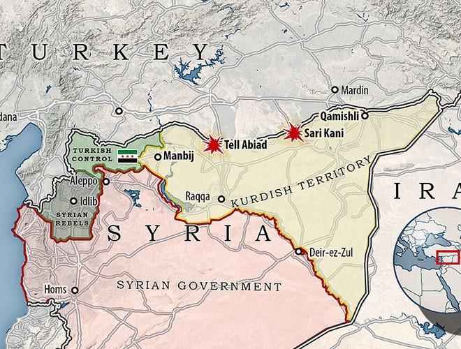 Quân đội Syria hợp lực với người Kurd, Thổ Nhĩ Kỳ tấn công xe chở người nước ngoài - Ảnh 2.