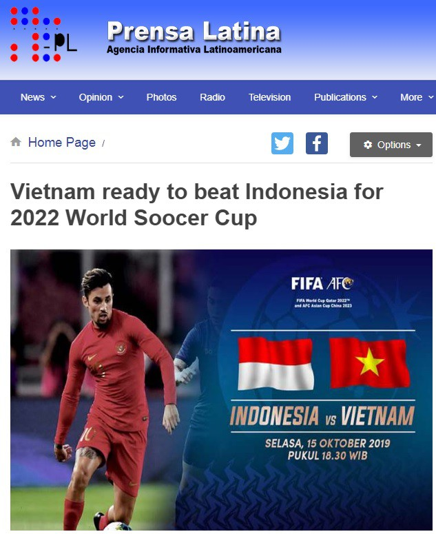 Báo Cuba, Trung Quốc đồng loạt nhận định tuyển Việt Nam sẽ đánh bại Indonesia - Ảnh 1.