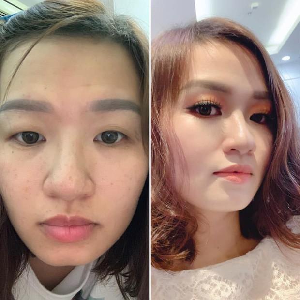 Chùm ảnh sự khác biệt trước và sau khi trang điểm của con gái: Ai bảo không thể đổi trắng thay đen! - ảnh 2