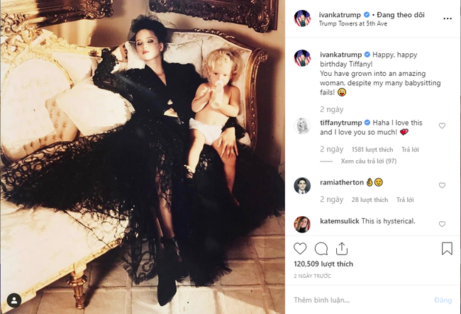 Đăng ảnh độc mừng sinh nhật em gái bị cha mình ghẻ lạnh, Ivanka Trump lại nhận cả rổ gạch đá vì phản cảm - Ảnh 1.