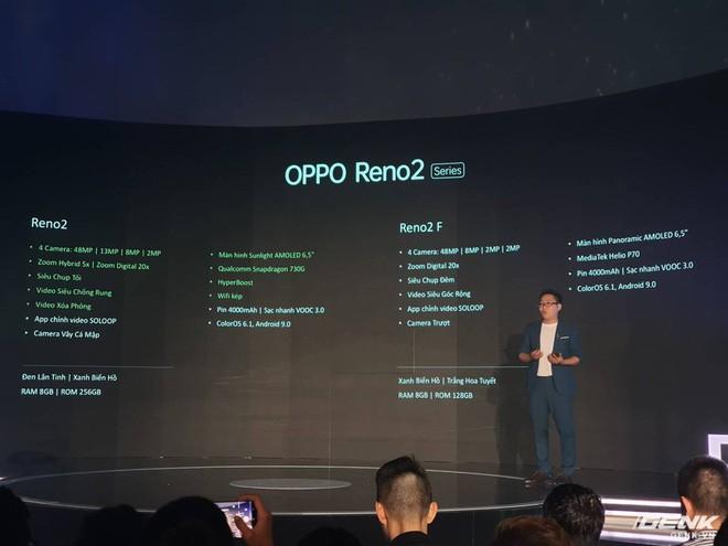 Bộ đôi Oppo Reno 2 và 2F chính thức ra mắt tại Việt Nam hôm nay: Thiết kế vây cá mập độc quyền, 4 camera, sạc VOOC 3.0, giá 8,99 và 14,99 triệu đồng - Ảnh 13.