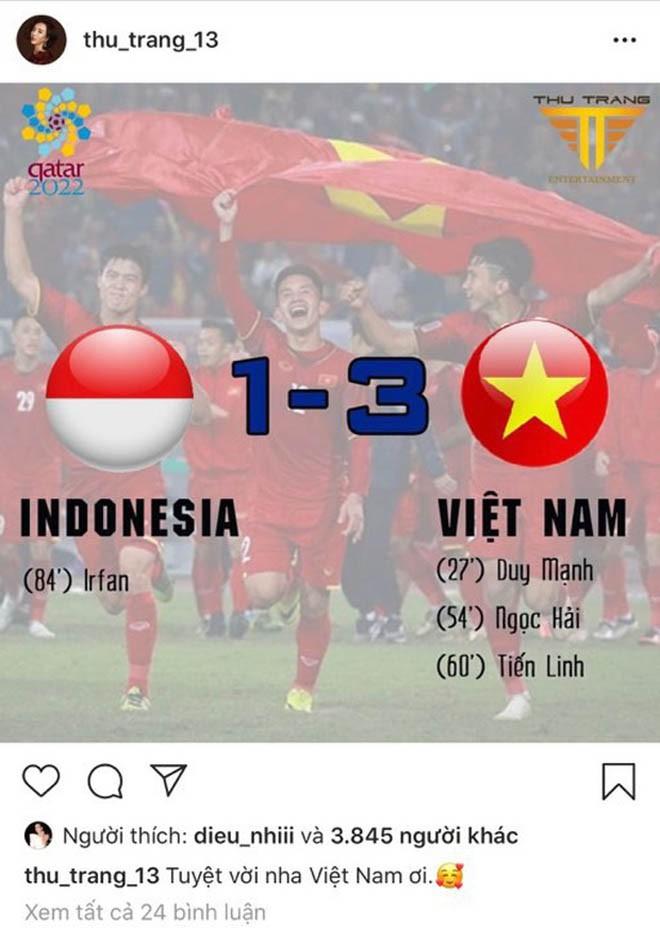 Nhiều sao Việt được phong 'thánh dự đoán tỉ số' khi Việt Nam thắng Indonesia - ảnh 5