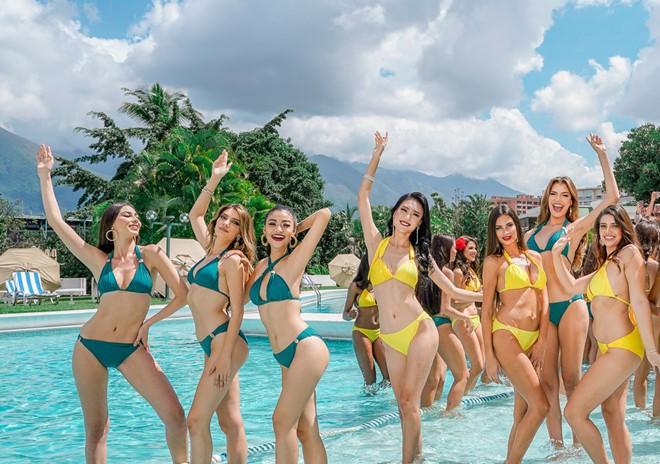 Kiều Loan uyển chuyển, phô đường cong thể hình với bikini tại Miss Grand - Ảnh 2.
