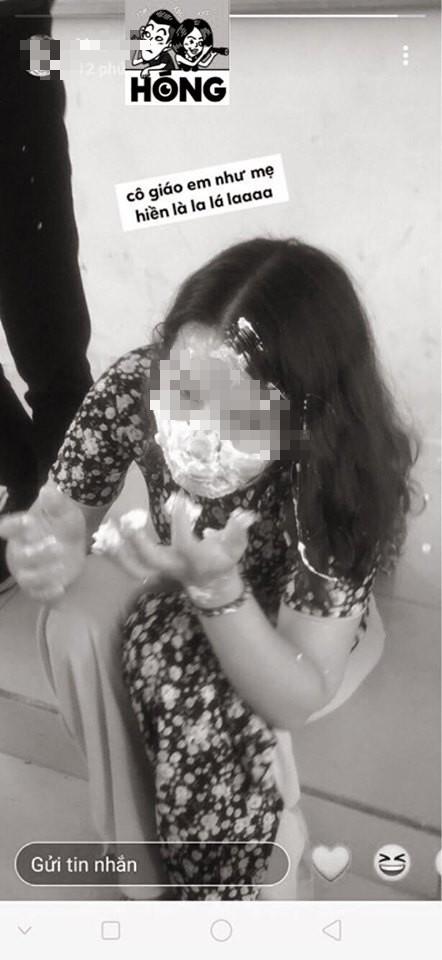 Học sinh đăng ảnh cô giáo bị trét bánh kem đầy mặt và bình luận: Hành cô dễ sợ luôn - ảnh 3