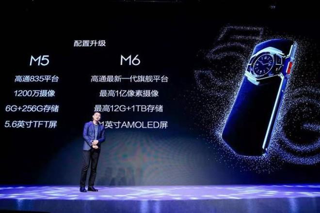 Hãng Trung Quốc công bố smartphone dùng chip Snapdragon 865, bộ nhớ trong 1TB, camera 64MP, có cả đồng hồ cơ ở mặt lưng - Ảnh 2.