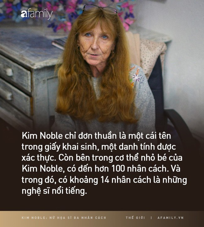 Kim Noble: Nữ họa sĩ có hơn 100 bản ngã và 14 phong cách hội họa từ các nhân cách khác nhau cùng chung một nỗi đau quá khứ - Ảnh 1.