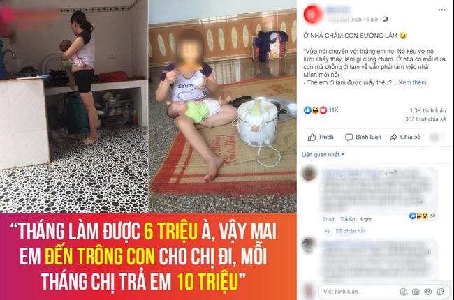 Chê vợ ở nhà chăm con nhỏ lười chảy thây, ông chồng bị mẹ bỉm sữa dạy cho một bài học khiến cả nghìn chị em tán thưởng - Ảnh 3.