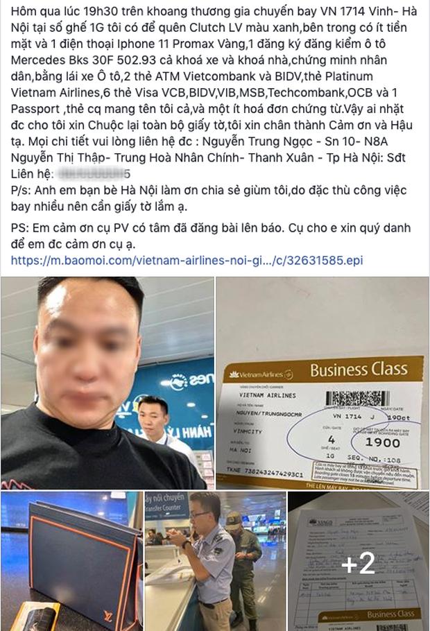 Bỏ quên túi LV ở khoang thương gia máy bay Vietnam Airlines, hành khách lên facebook đăng tin tìm kiếm - Ảnh 1.
