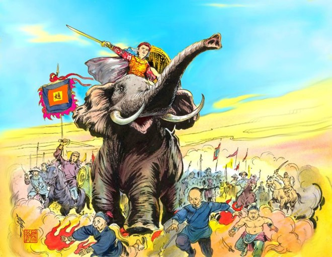 Cánh tay phải của vua Quang Trung và đội tượng binh có một không hai - Ảnh 1.