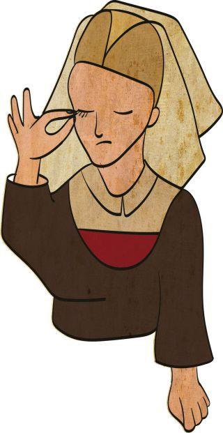 Những điều kỳ quặc nhất thời Trung Cổ: Nhổ sạch lông mày, lông mi cũng thành trào lưu - Ảnh 6.