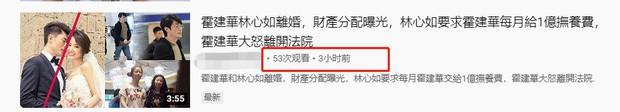 Rộ tin Lâm Tâm Như ly hôn, giành được quyền nuôi con, hàng tháng đòi Hoắc Kiến Hoa chu cấp 70 tỷ - ảnh 1