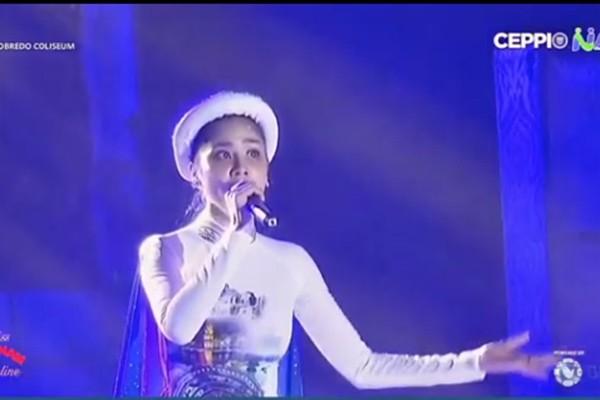 Hoàng Hạnh phá nát Tàu anh qua núi ở Hoa hậu Trái đất - Ảnh 2.
