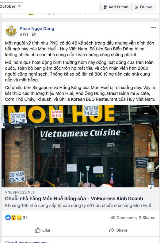 Hành trình 13 năm từ zero đến một đống nợ của Tập đoàn Huy Việt Nam – chủ sở hữu thương hiệu Món Huế - Ảnh 3.