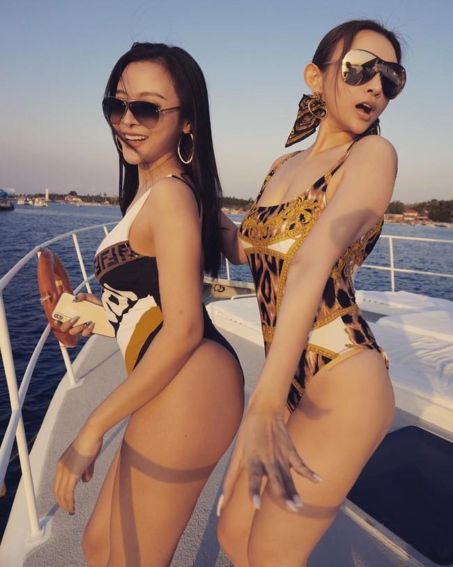 Đẳng cấp gia đình mỹ nhân: Từ U40 đến U30 đều diện bikini khoe dáng bốc lửa trên du thuyền mừng sinh nhật Huyền Baby - ảnh 6